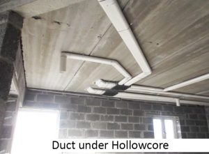 ProAir Duct under hollowcore